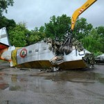 HU 16A Albatross in demolizione